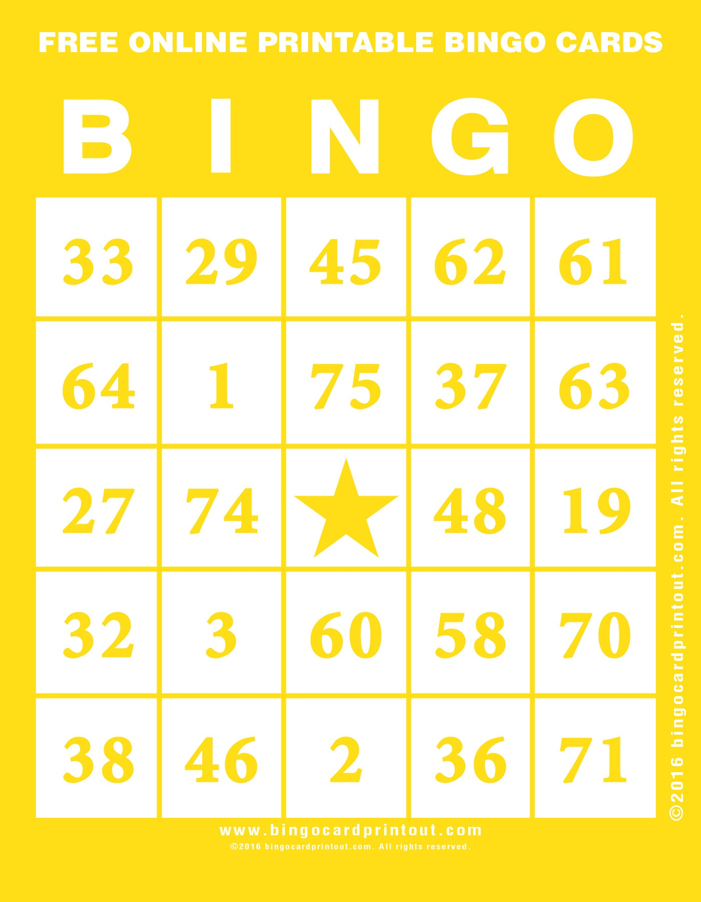 Free Online Printable Bingo Cards - Bingocardprintout - Free Printable Bingo Cards Random Numbers