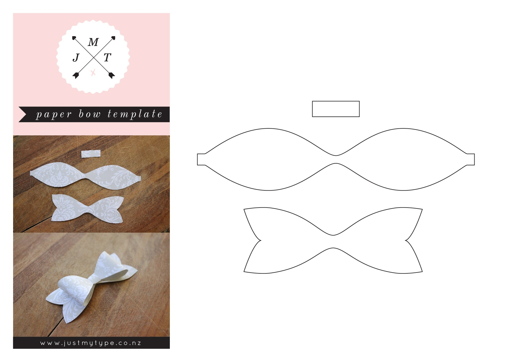 Free Paper Bow Template - Kaza.psstech.co - Free Bow Tie Template Printable