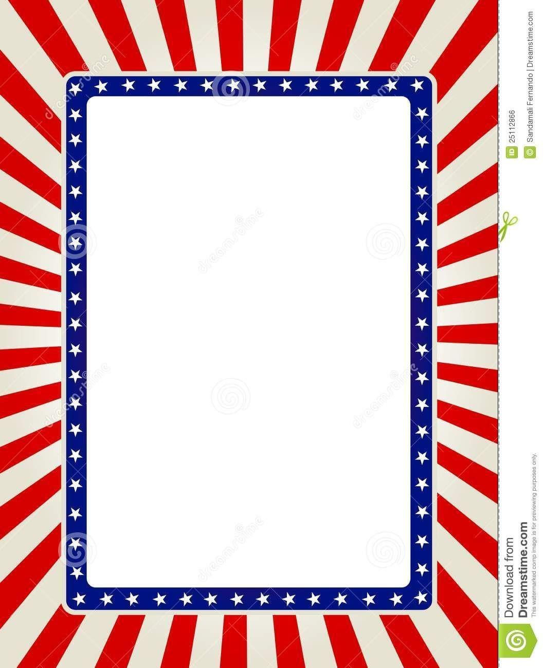 Free Patriotic Page Borders   Patriotic Border   Images   Printable - Free Printable Patriotic Writing Paper