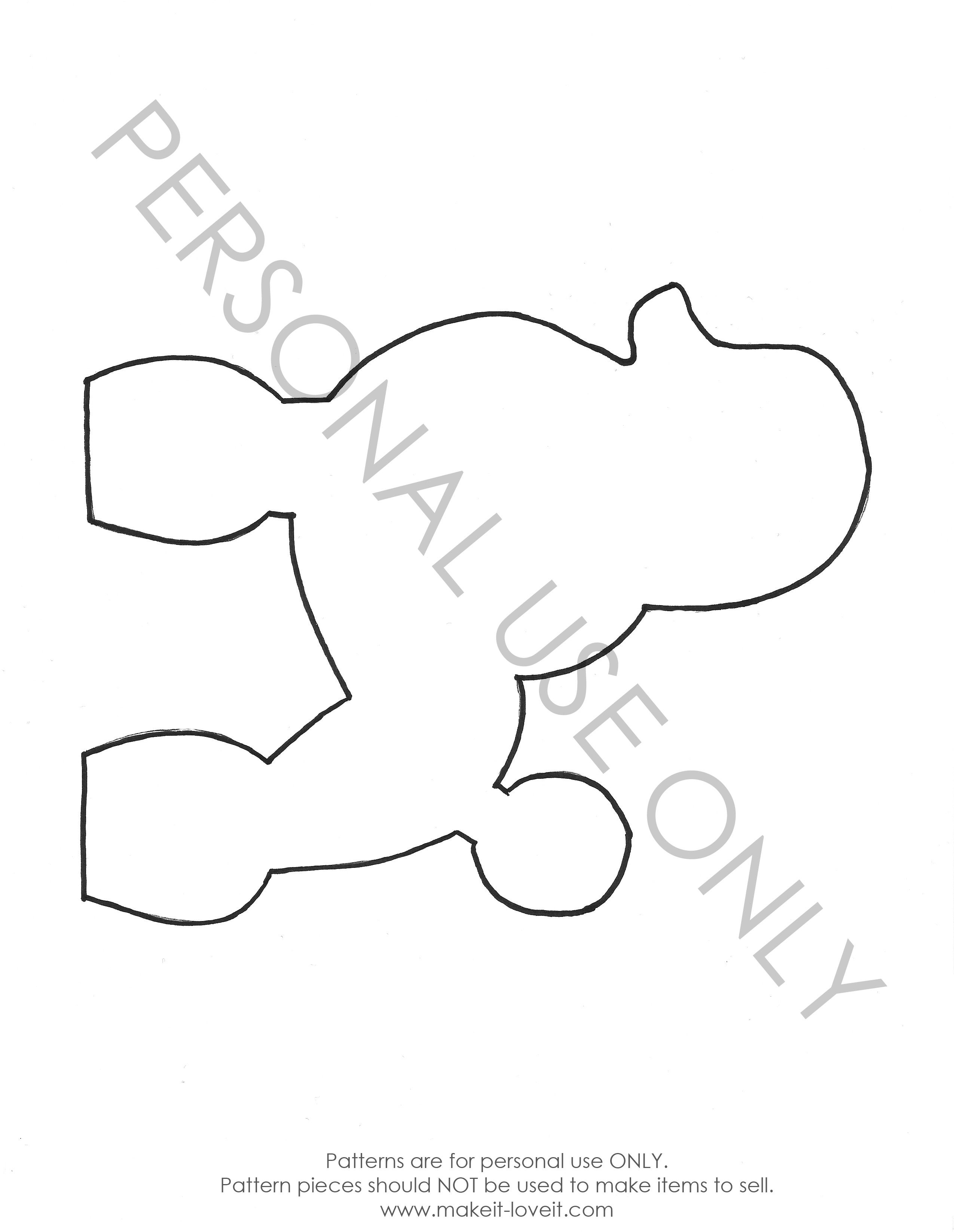 Free Pattern Pieces | Sock Monkeys & Stuffed Animals | Poodle - Free Printable Poodle Template