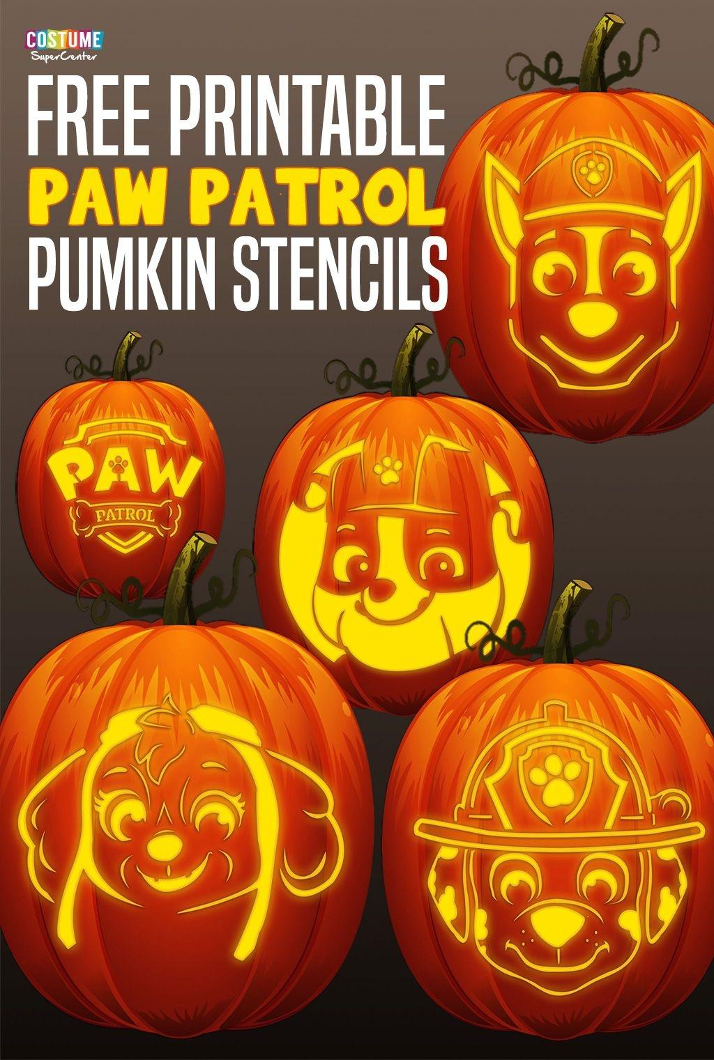 Free Paw Patrol Pumpkin Stencils | Paw Patrol Birthday | Paw Patrol - Halloween Pumpkin Carving Stencils Free Printable