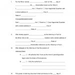 Free Pennsylvania Guardian Of Minor Power Of Attorney Form   Word   Free Printable Legal Guardianship Forms