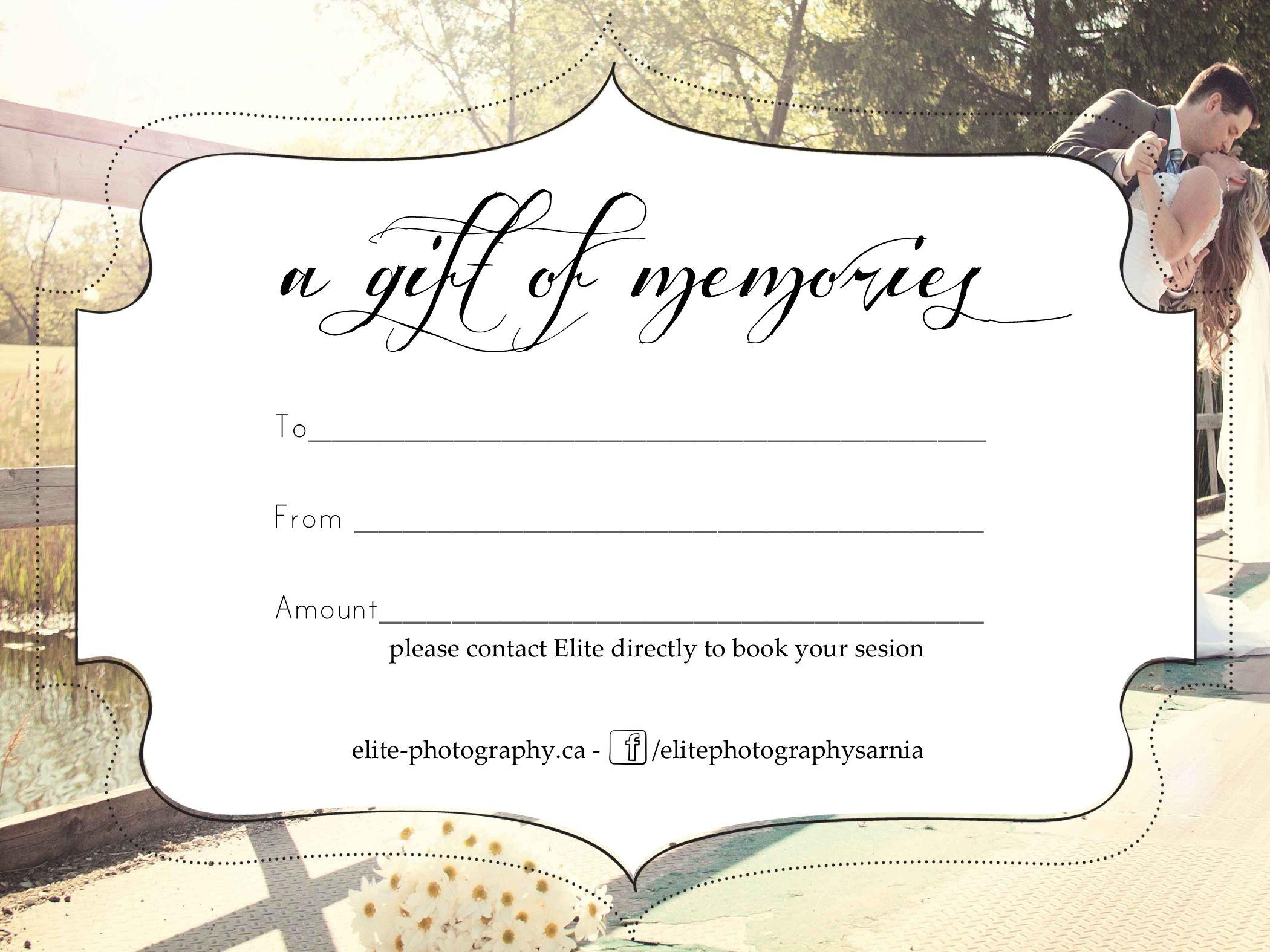 Free Photography Gift Certificate Templatesharetemplatedesigncom - Free Printable Tattoo Gift Certificates