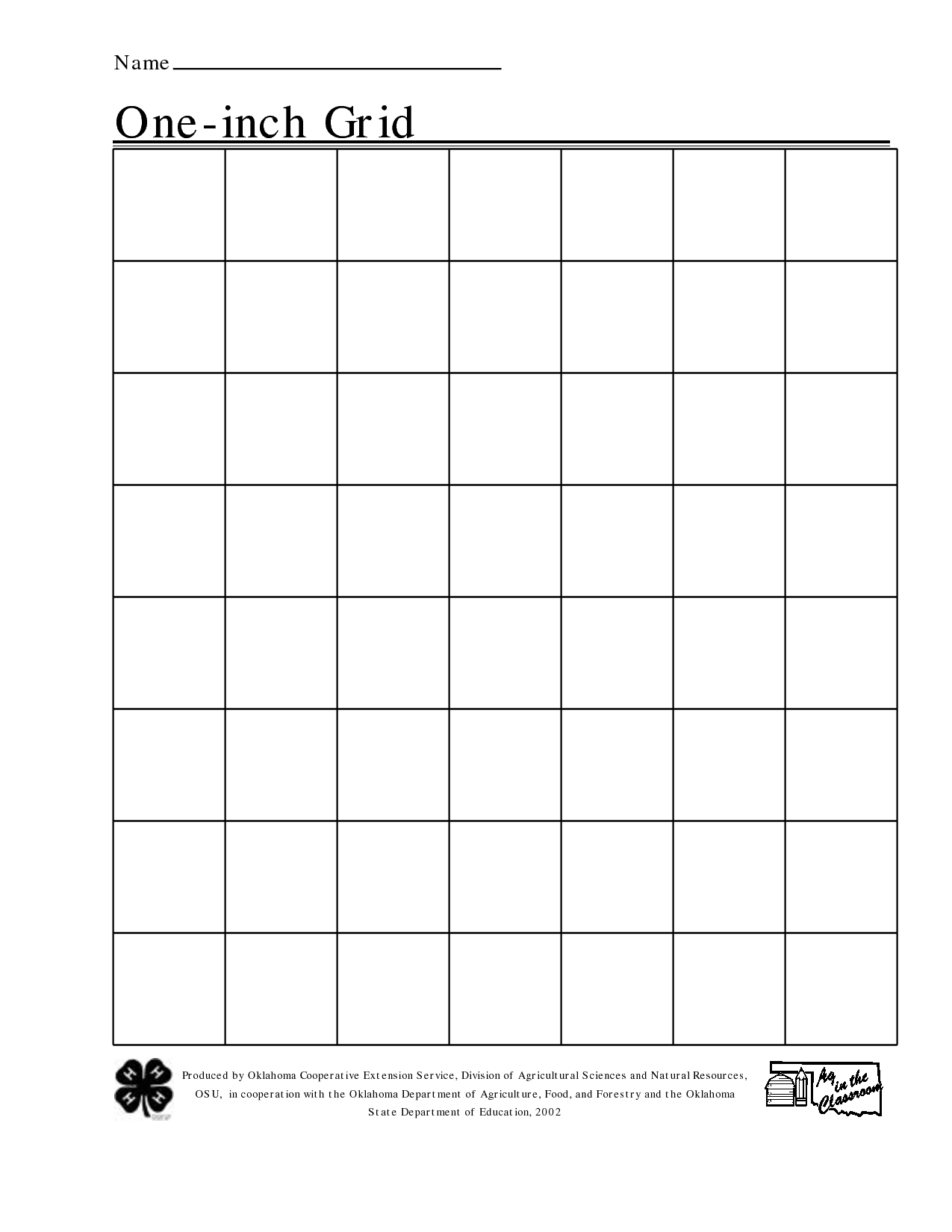 Free Printable 1 Inch Grid Paper | Math | Printable Graph Paper - Free Printable Graph Paper For Elementary Students