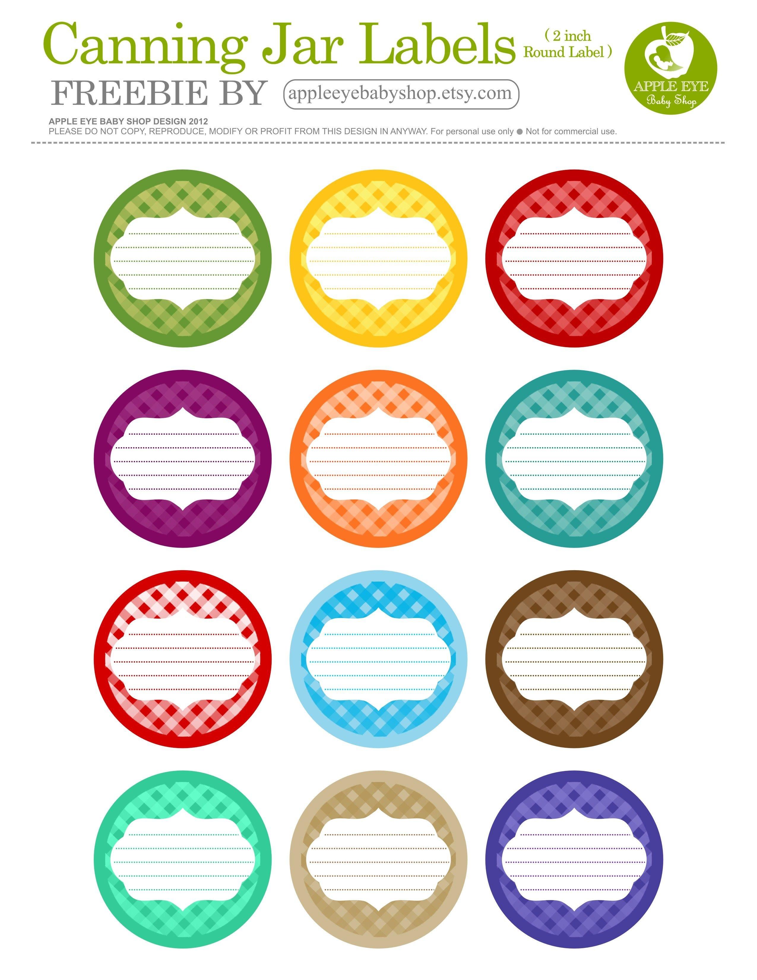Free Printable| 12 Canning Jar Labels} Freebie@apple Ratana - Free Printable Mason Jar Labels