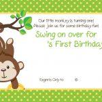 Free Printable 1St Monkey Birthday   Birthday Invitation For Kids   Free Printable Monkey Birthday Party Invitations