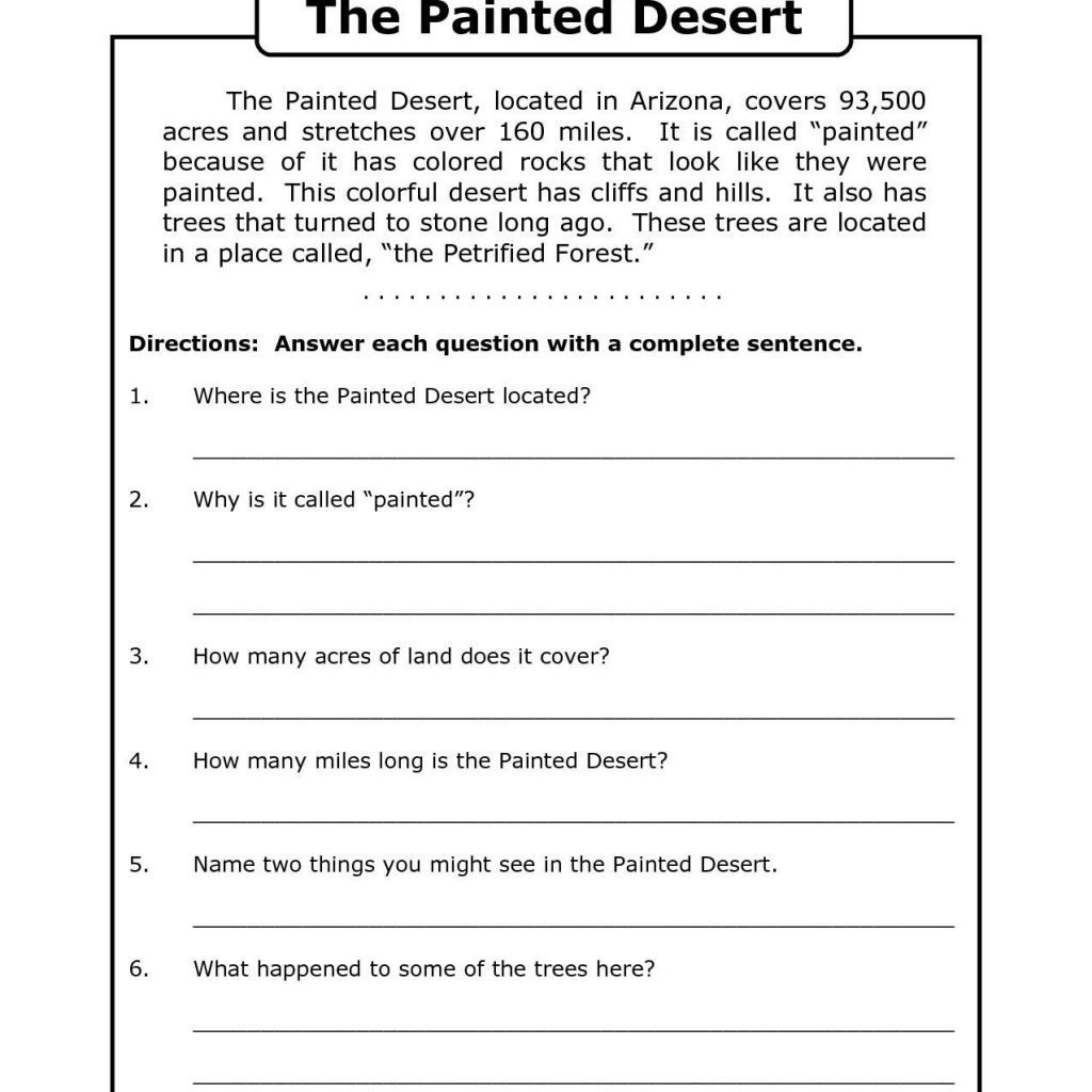 Free Printable 8Th Grade Reading Comprehension Worksheets 17 - Free Printable Ela Worksheets