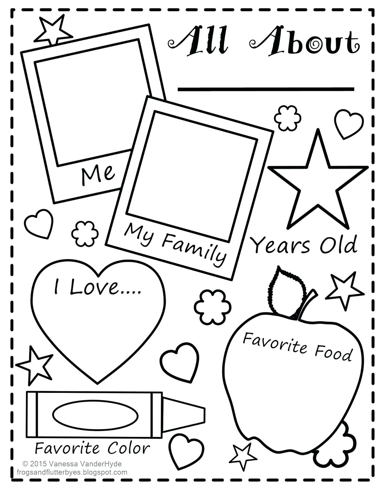 Free Printable All About Me Worksheet Collection Of Free Printable - Free Printable All About Me Worksheet