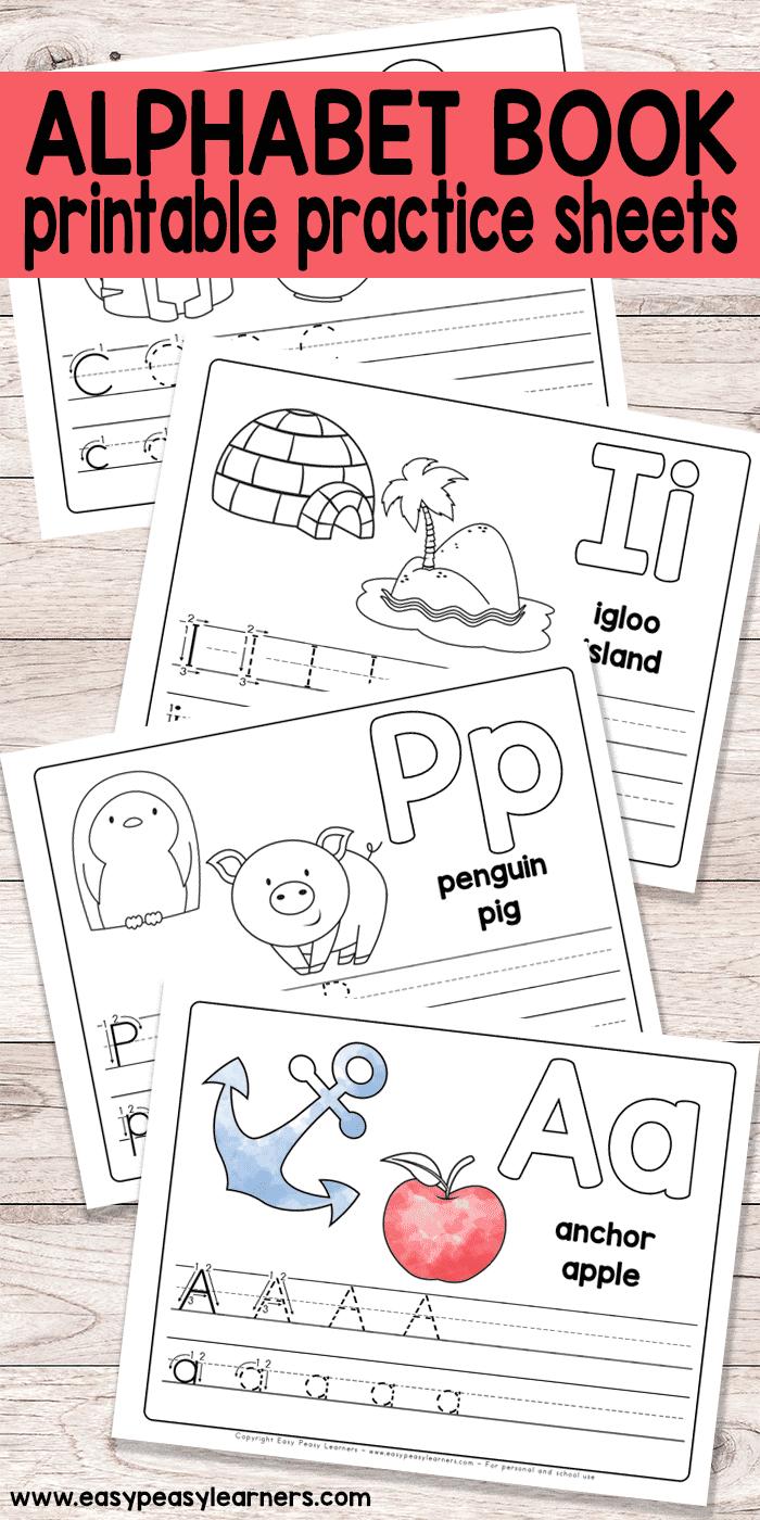 Free Printable Alphabet Book - Alphabet Worksheets For Pre-K And K - Free Printable Abc Worksheets