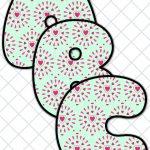 Free Printable Alphabet For Valentine's Day  Pattern 3 | Free   Free Printable Valentine Heart Patterns