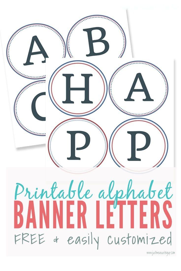 Free Printable Alphabet Letters Banner | Theveliger - Free Printable Banner Letters