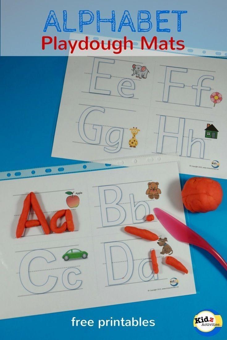 Free Printable Alphabet Playdough Mats - Kidz Activities   Speech - Alphabet Playdough Mats Free Printable