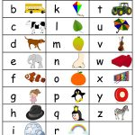 Free Printable Alphabets Chart With Pictures | Baby Bedroom   Free Printable Alphabet Chart