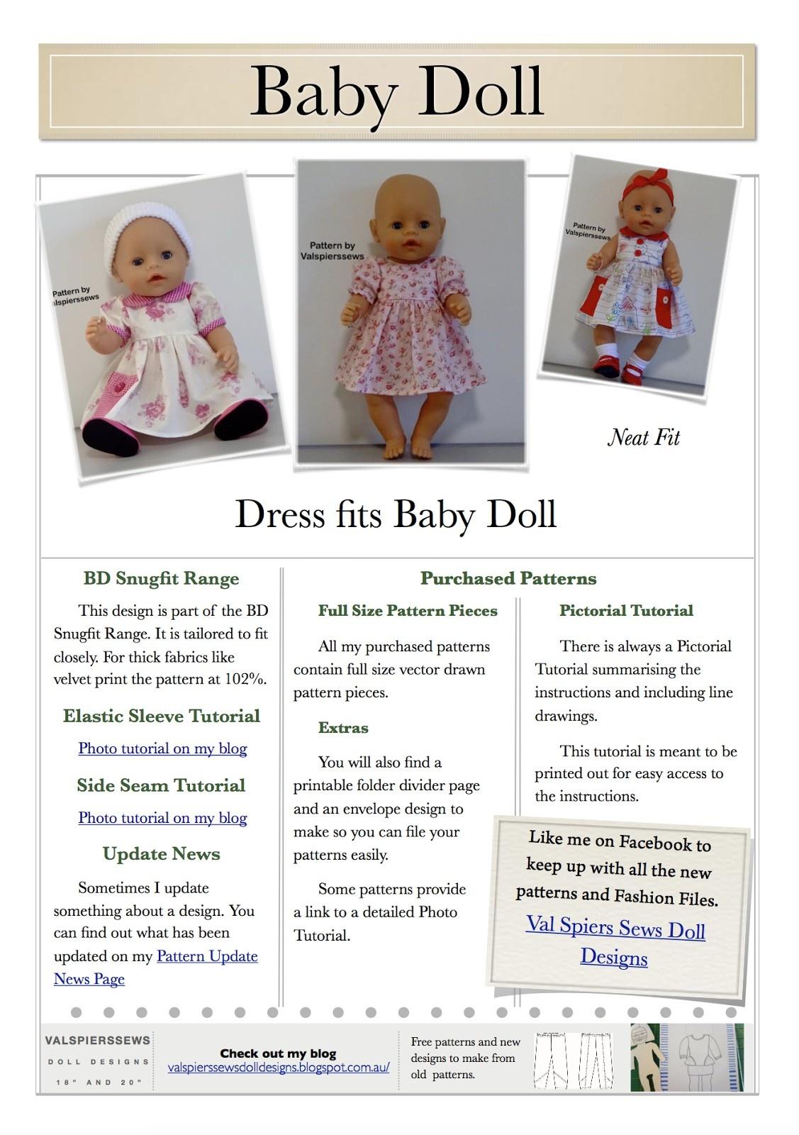 Free Printable American Girl Doll Clothes Patterns Lovely Doll - American Girl Doll Clothes Patterns Free Printable