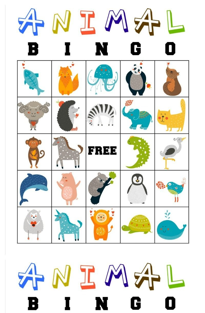 Free Printable Animal Bingo Cards For Toddlers And Preschoolers - Free Printable Animal Cards