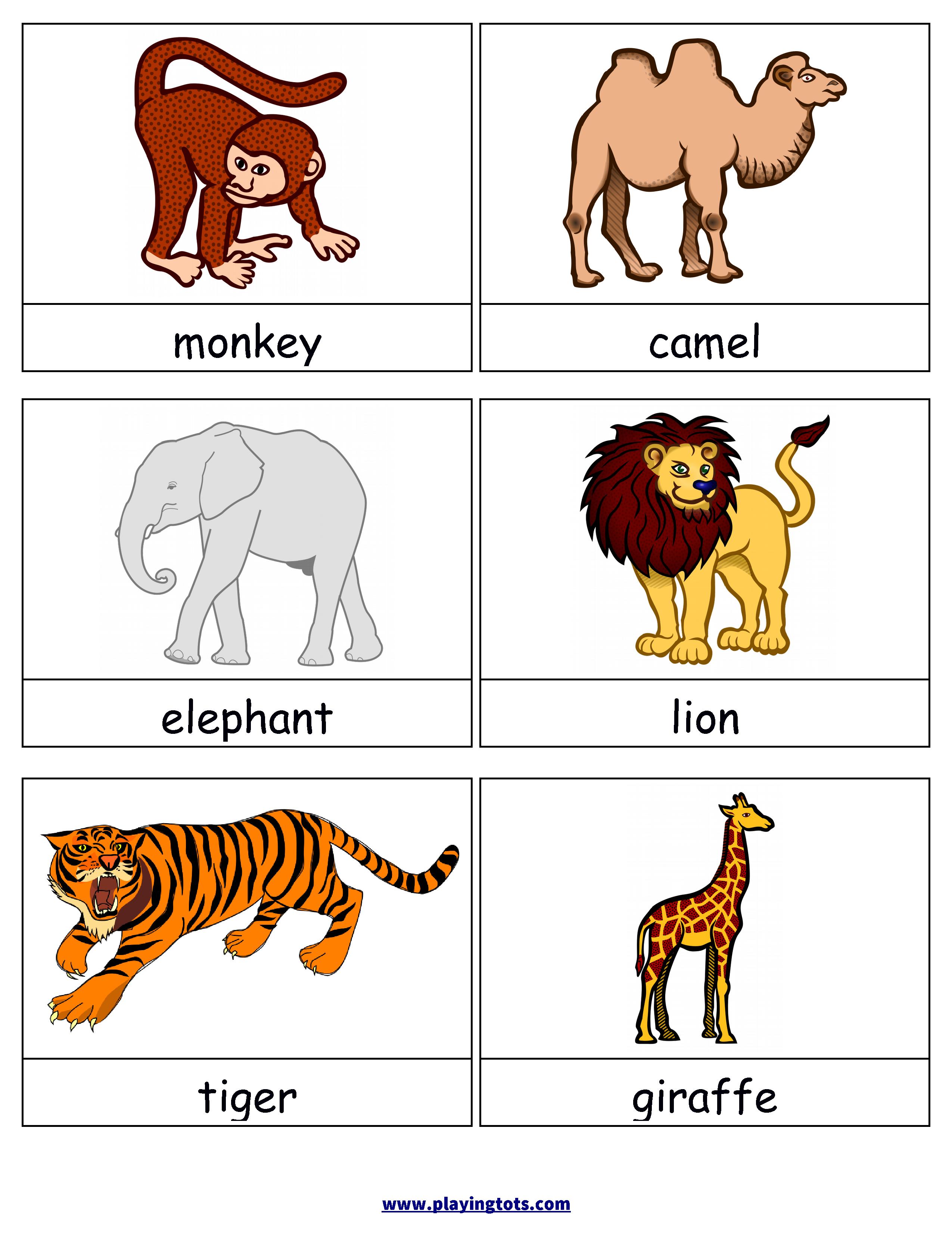 Free Printable Animals Flash Cards | Jocuri Copii | Learning Cards - Free Printable Animal Cards