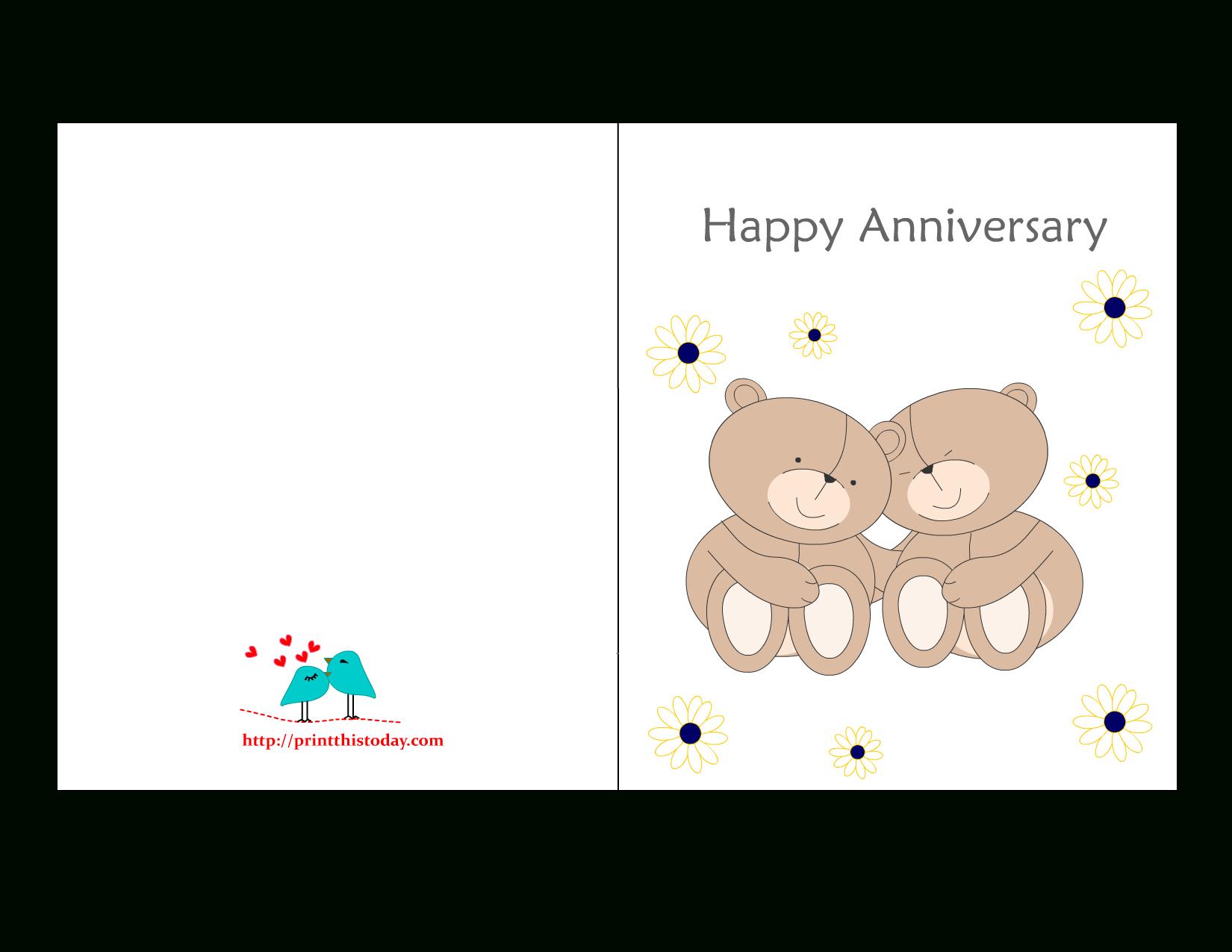 Free Printable Anniversary Cards - Free Printable Anniversary Cards