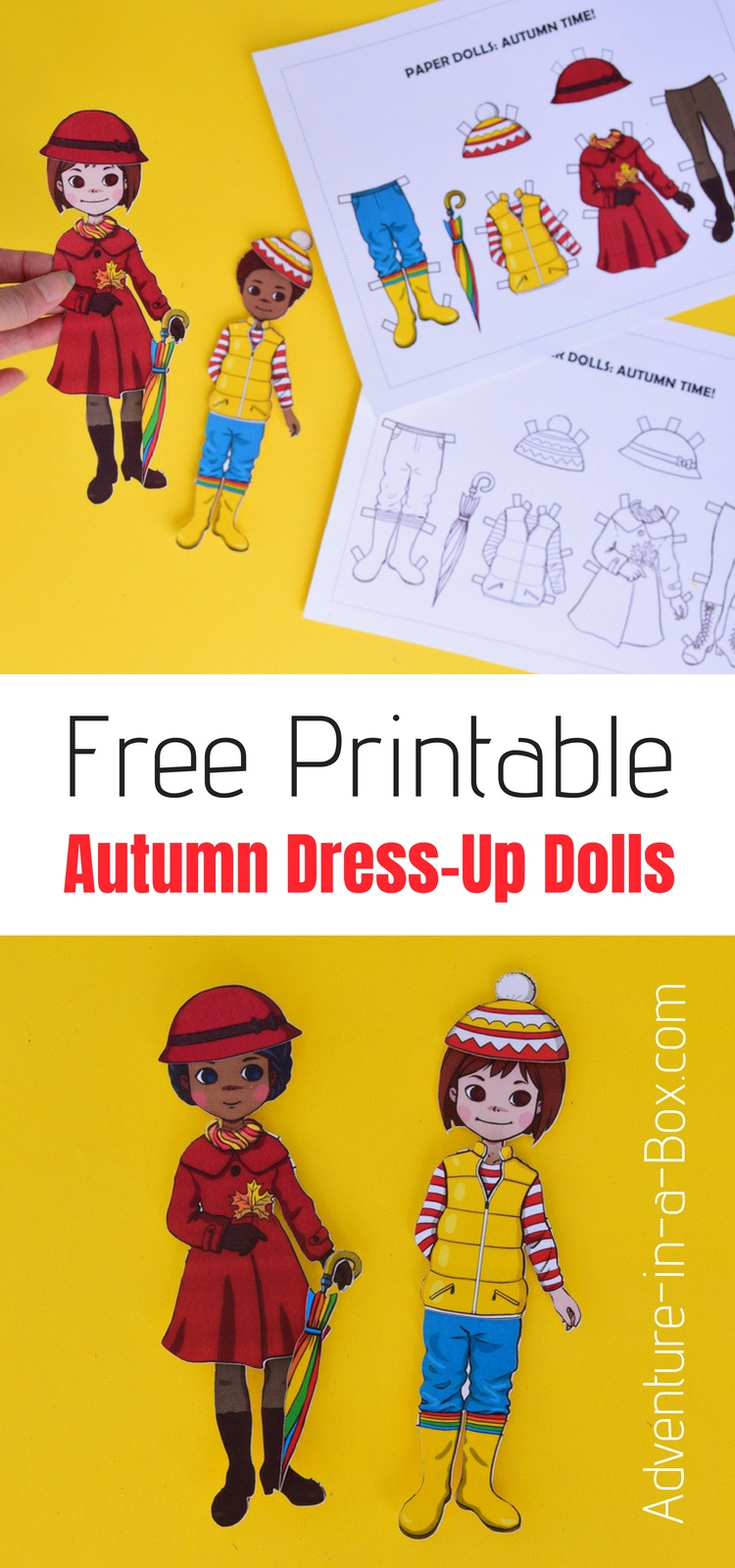 Free Printable Autumn Dress-Up Paper Doll | Adventure In A Box - Free Printable Autumn Paper