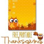 Free Printable Autumn Owl Thanksgiving Invitation Template | Party   Free Printable Thanksgiving Invitation Templates