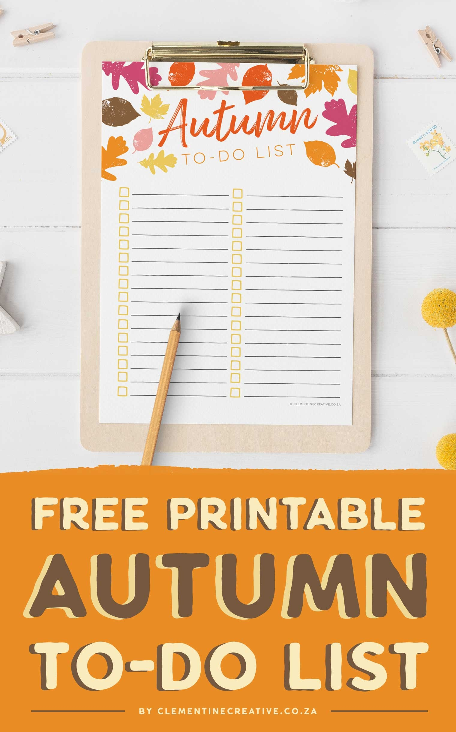 Free Printable Autumn To-Do List - Get Excited For Fall! - Free Printable Autumn Paper