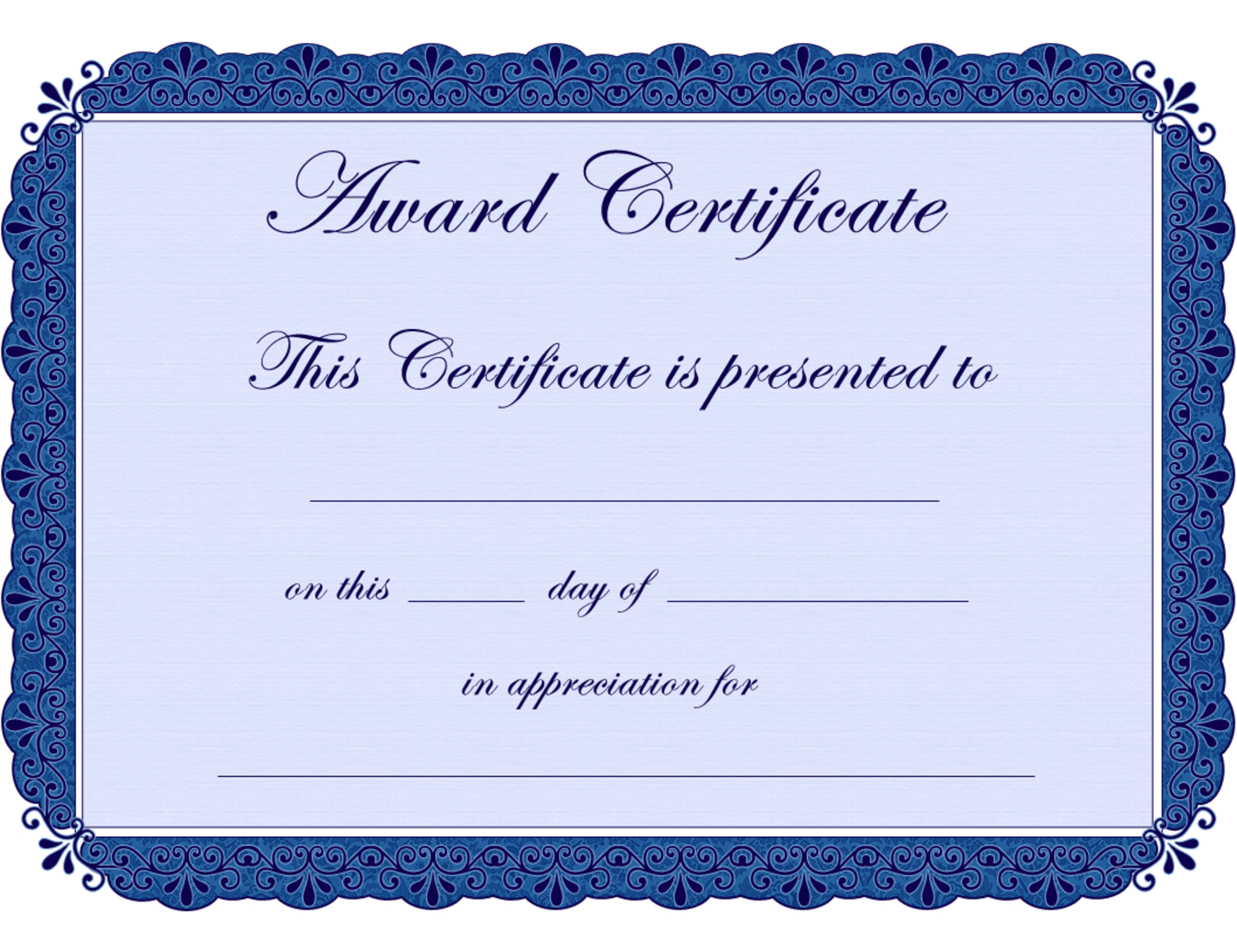 Free Printable Award Certificate Borders    Award Certificate - Free Printable Wrestling Certificates