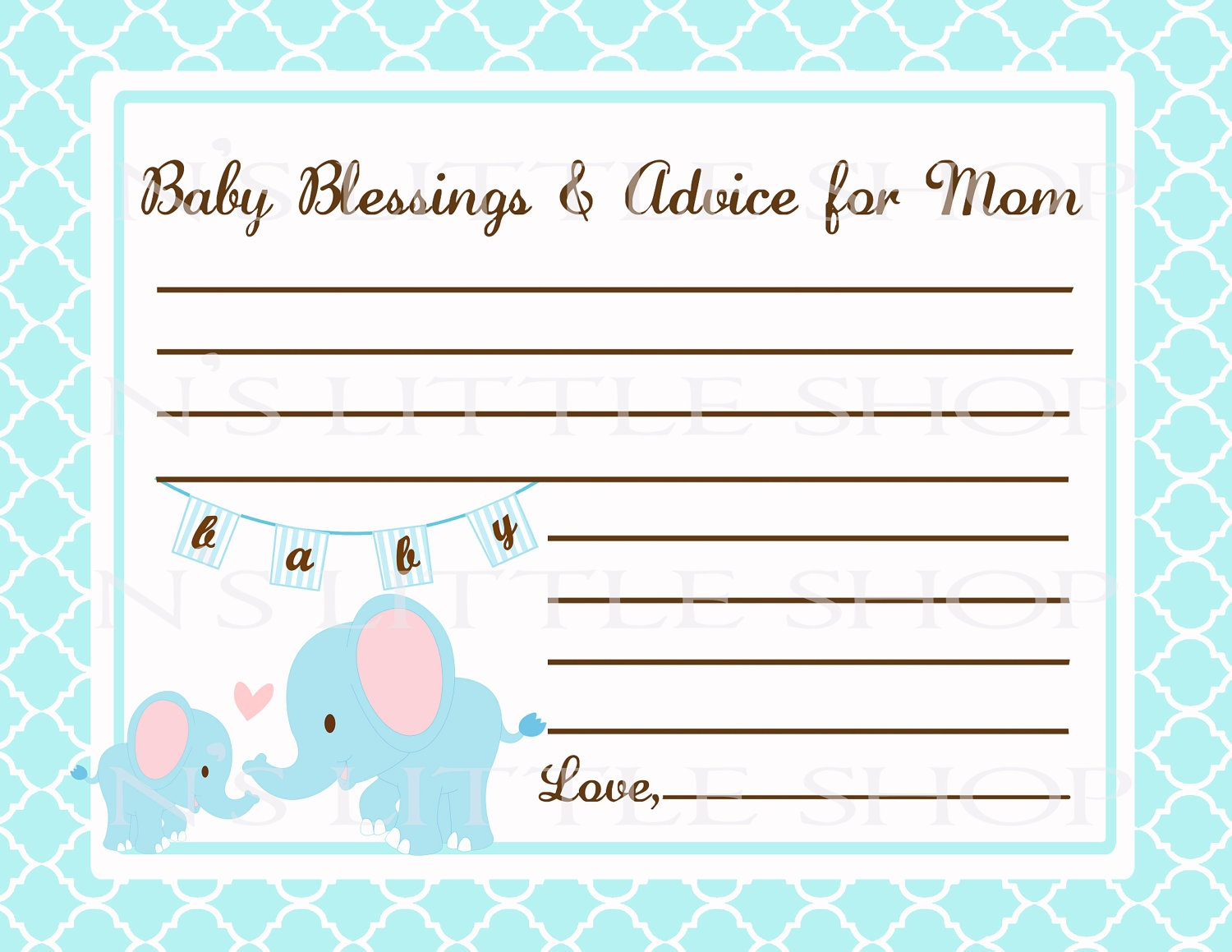 Free Printable Baby Shower Advice Cards - Printable Cards - Free Printable Baby Cards