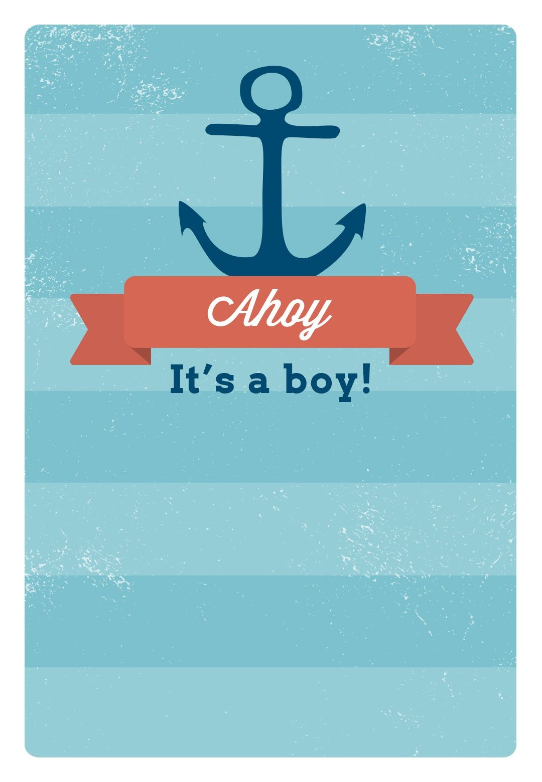 Free Printable Baby Shower Invitation - Ahoy It's A Boy | Greetings - Baby Invitations Printable Free