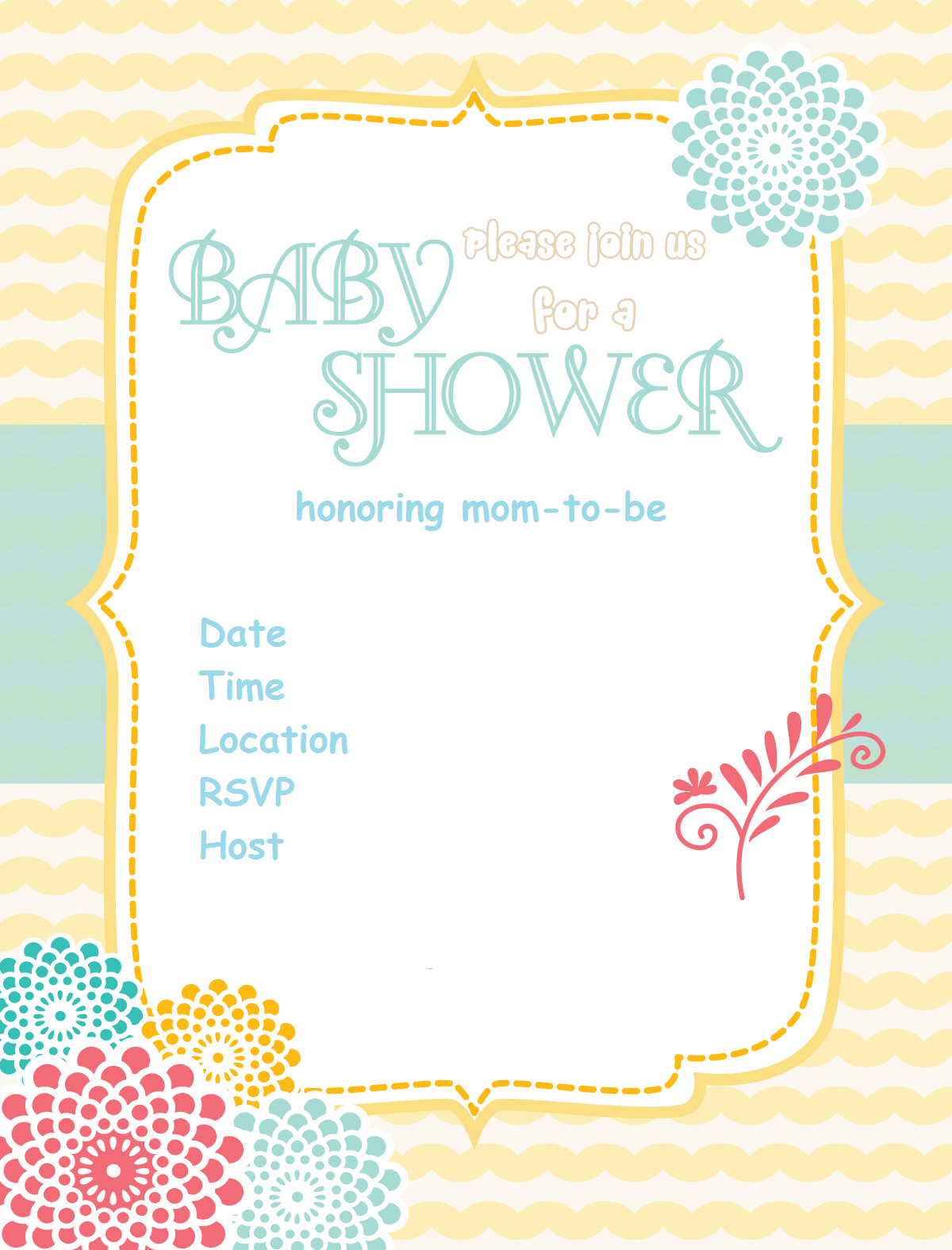 Free Printable Baby Shower Invitations - Baby Shower Ideas - Themes - Free Printable Baby Registry Cards