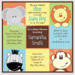 Free Printable Baby Shower Invitations   Stylish Jungle Animals   Free Printable Jungle Safari Baby Shower Invitations