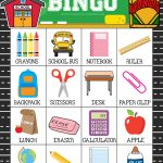 Free Printable Back To School Bingo Game Cards | School | Back To   Free Printable Back To School