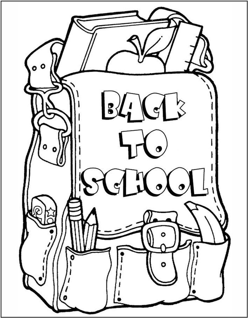 Free Printable Back To School Coloring Pages - Printable Coloring Sheets - Back To School Free Printable Coloring Pages