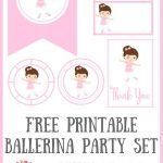Free Printable Ballerina Party Set | Planners, Printables And   Free Printable Ballerina Birthday Invitations