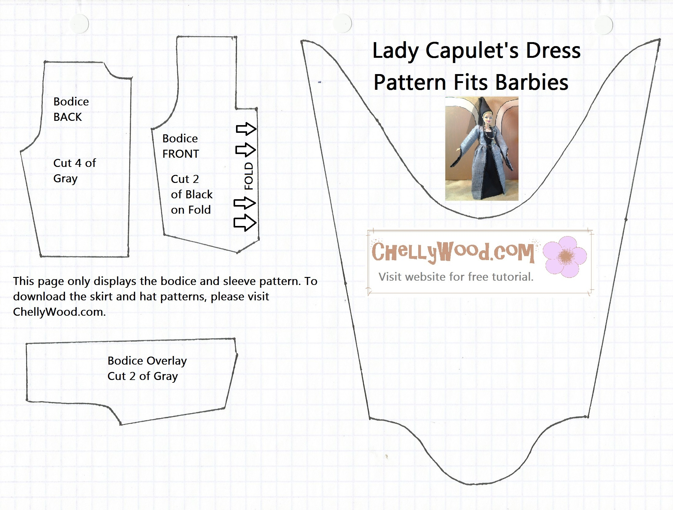Free Printable Barbie Doll Clothes Patterns – Free, Printable Doll - Barbie Dress Patterns Free Printable Pdf