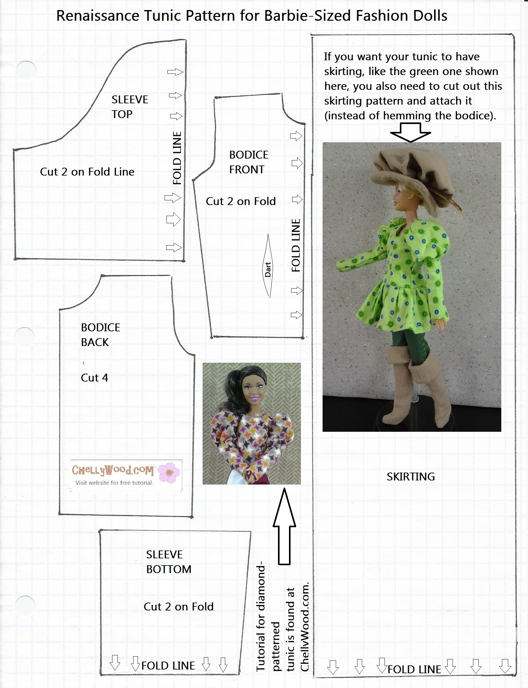 Free Printable Barbie Doll Clothes Patterns – Free, Printable Doll - Free Printable Sewing Patterns Pdf