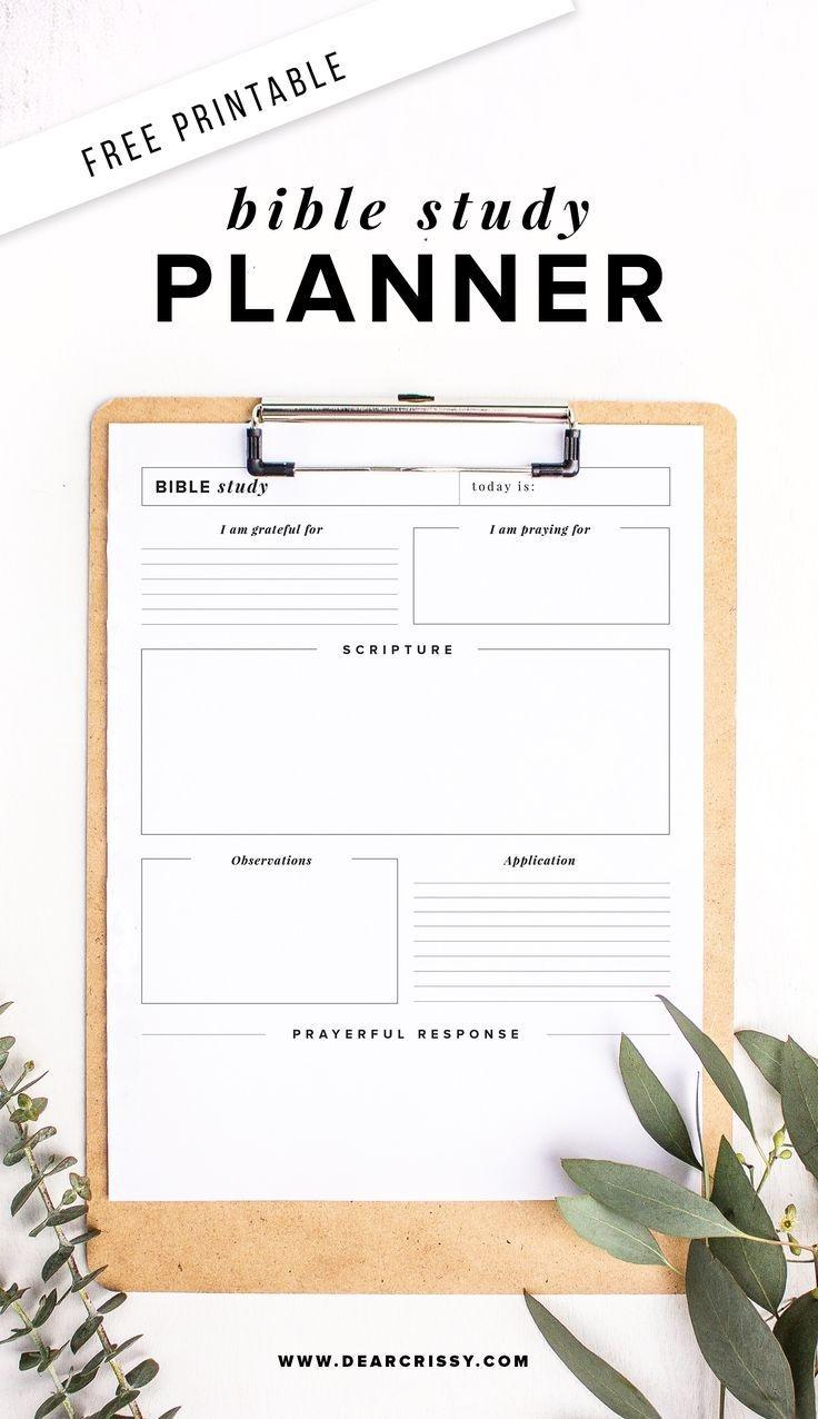 Free Printable Bible Study Planner - Soap Method Bible Study - Free Printable Bible Lessons For Women