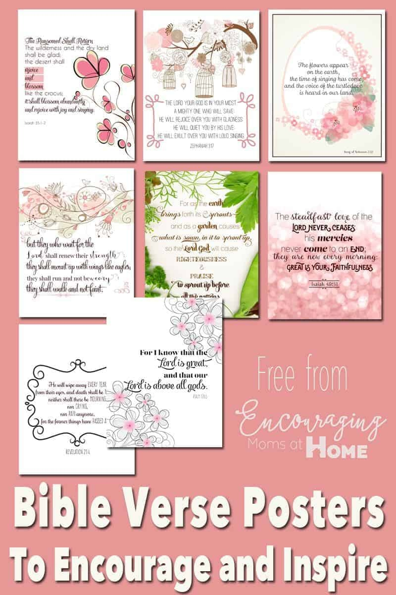 Free Printable Bible Verses To Encourage And Inspire Homeschool Moms - Free Printable Bible Verse Cards
