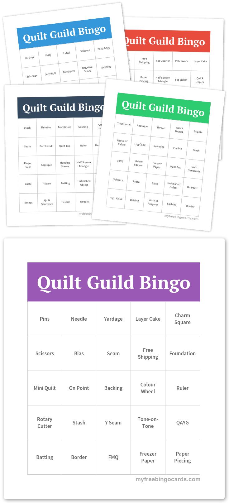 Free Printable Bingo Cards | Bingo Quilt Games | Free Bingo Cards - Free Printable Self Esteem Bingo