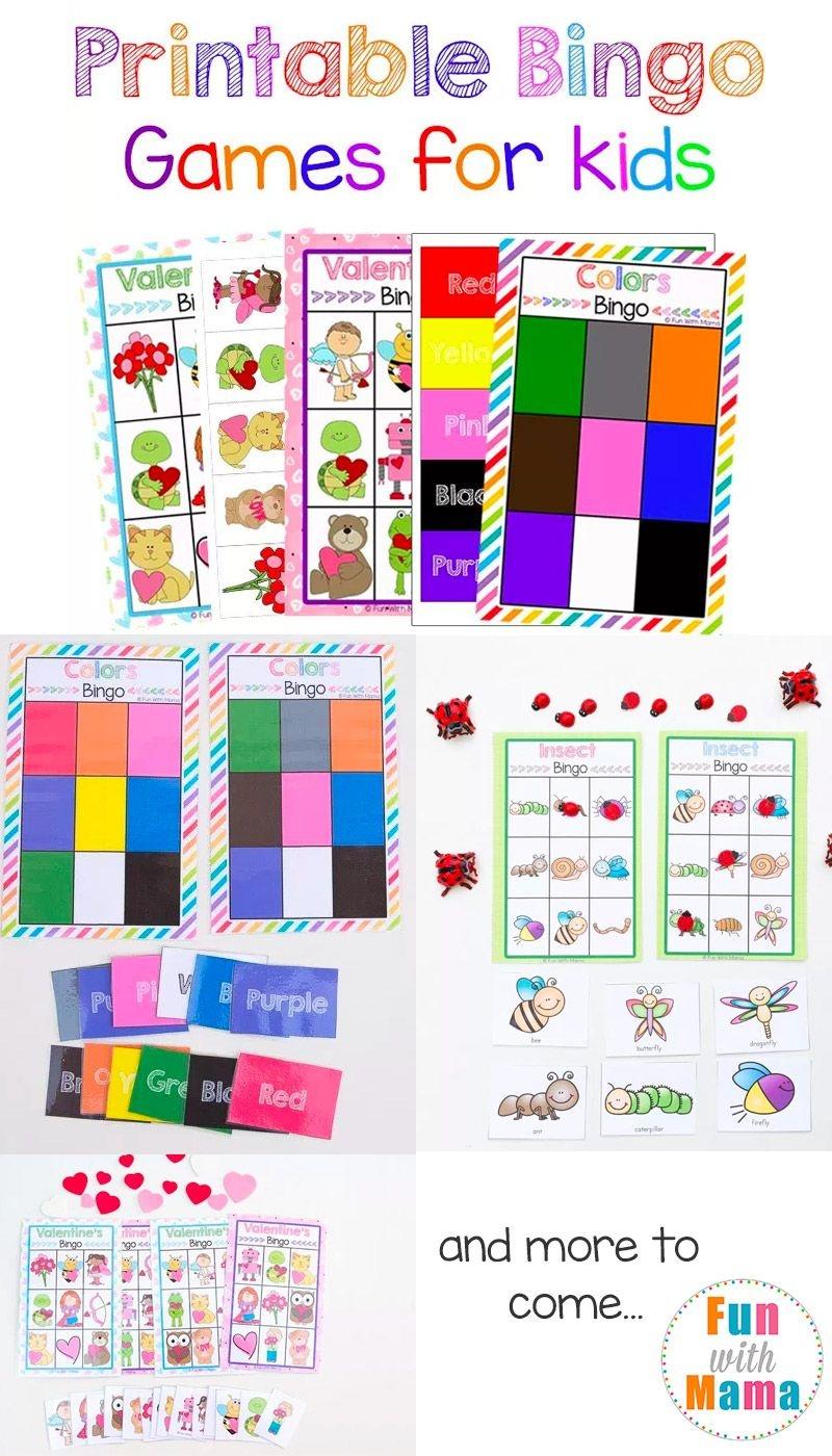 Free Printable Bingo Cards For Kids | Free Printables | Bingo Games - Free Printable Games For Toddlers