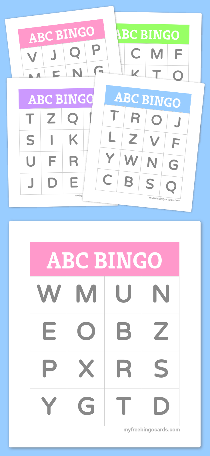 Free Printable Bingo Cards | Kindergarten | Alphabet Bingo, Abc - Free Printable Spanish Bingo Cards