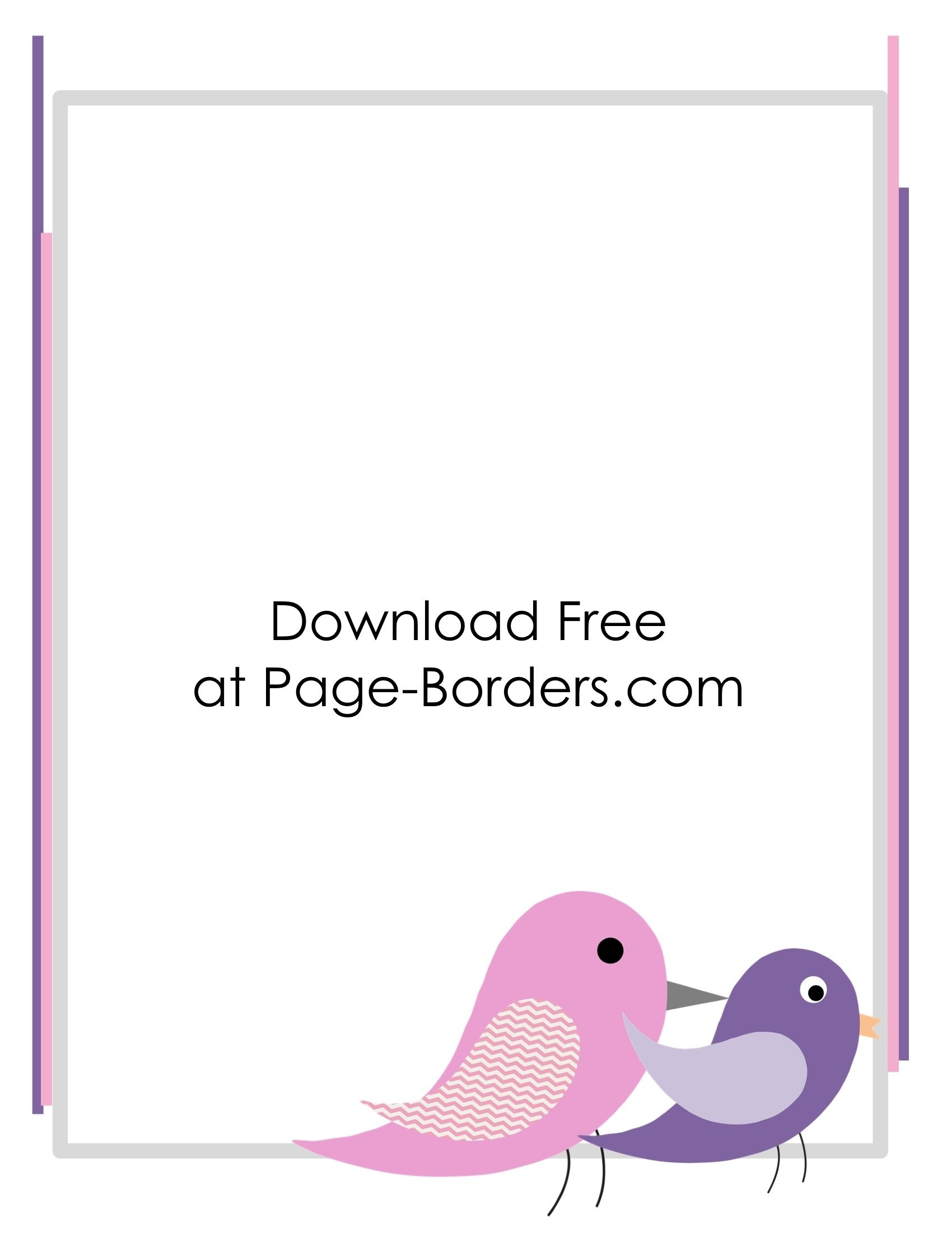 Free Printable Bird Border - Customize Online Then Download - Free Printable Page Borders