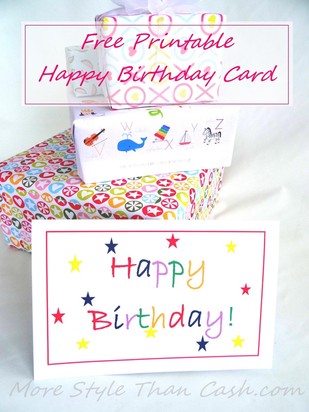 Free Printable Birthday Card - Free Printable Happy Birthday Cards