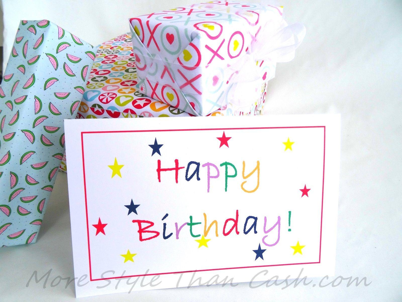 Free Printable Birthday Card | Great Teacher Stuff!!! | Free - Free Printable Birthday Cards For Her