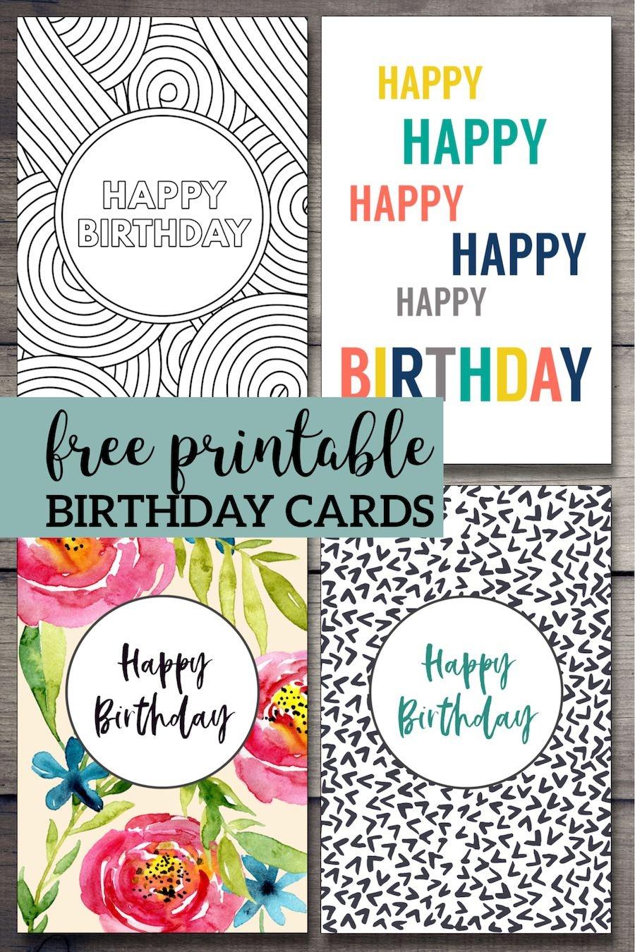 Free Printable Birthday Cards | Birthday Cards | Free Printable - Free Printable Birthday Cards For Adults