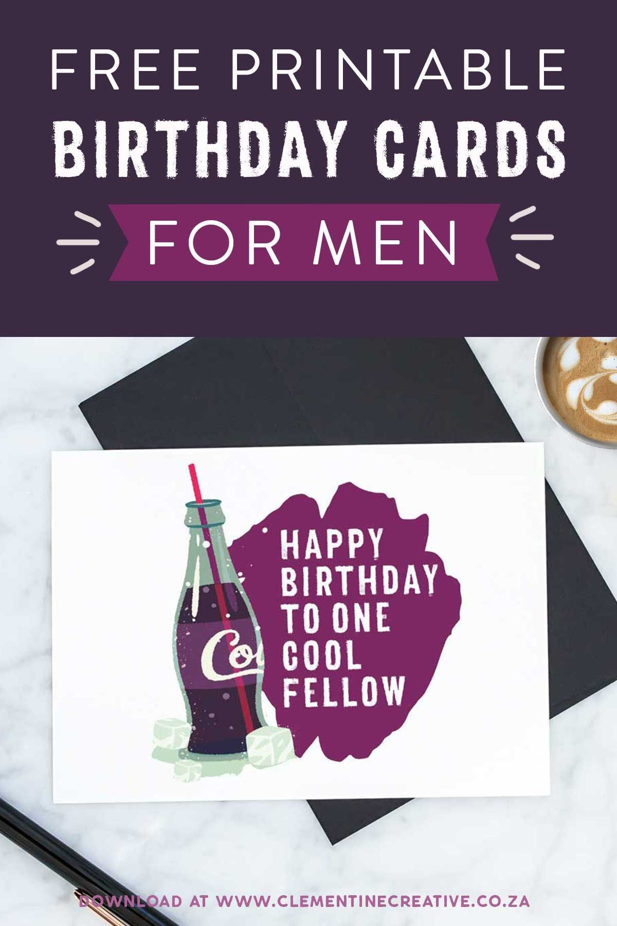 Free Printable Birthday Cards For Him   Printables, Invitations - Free Printable Birthday Cards For Him