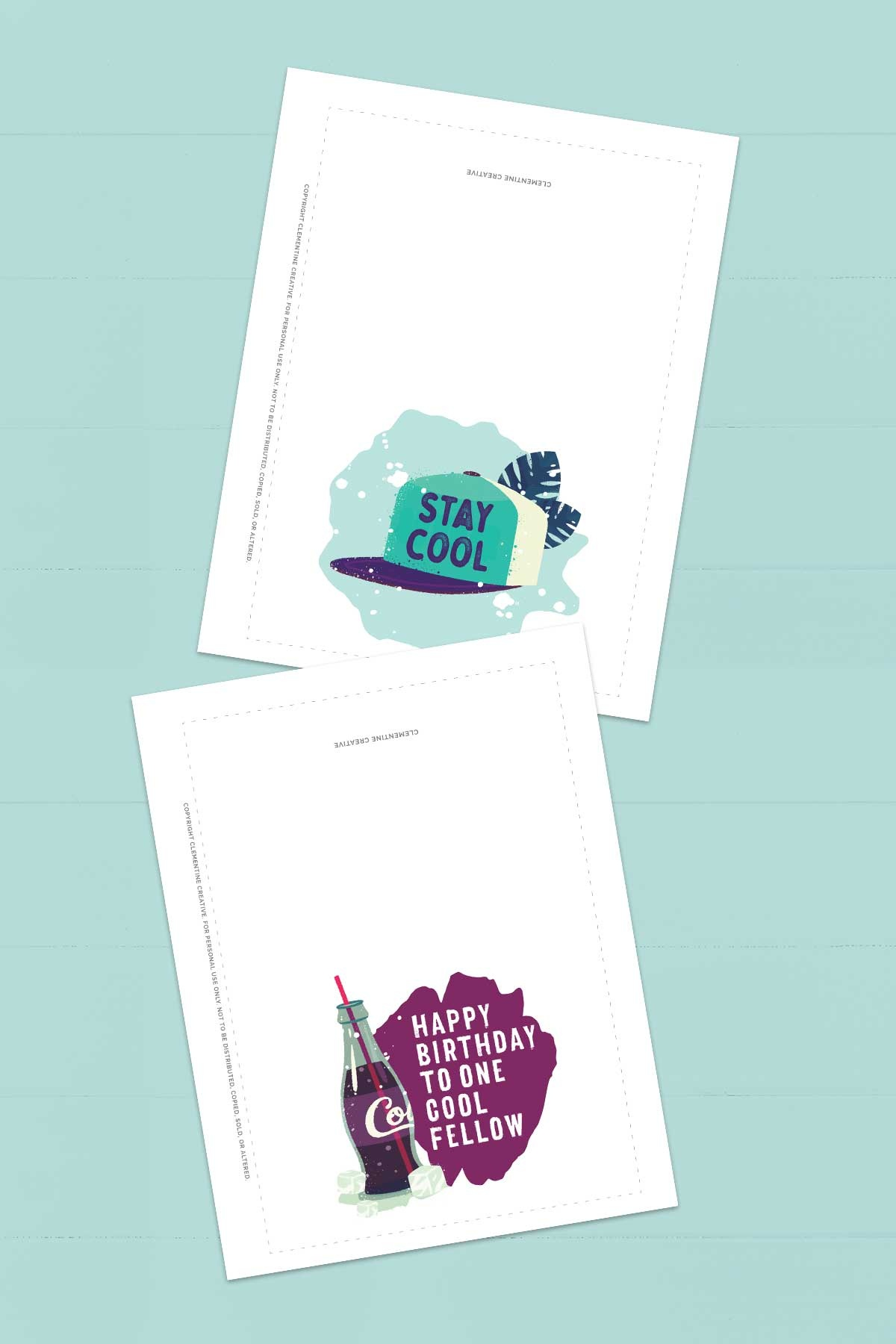 Free Printable Birthday Cards For Him   Stay Cool - Free Printable Birthday Cards For Him