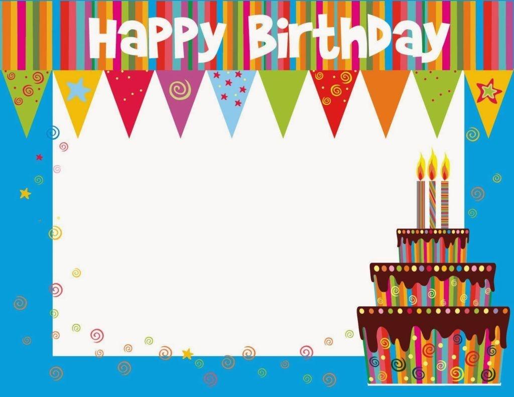 Free Printable Birthday Cards Ideas – Greeting Card Template   Happy - Free Printable Blank Greeting Card Templates