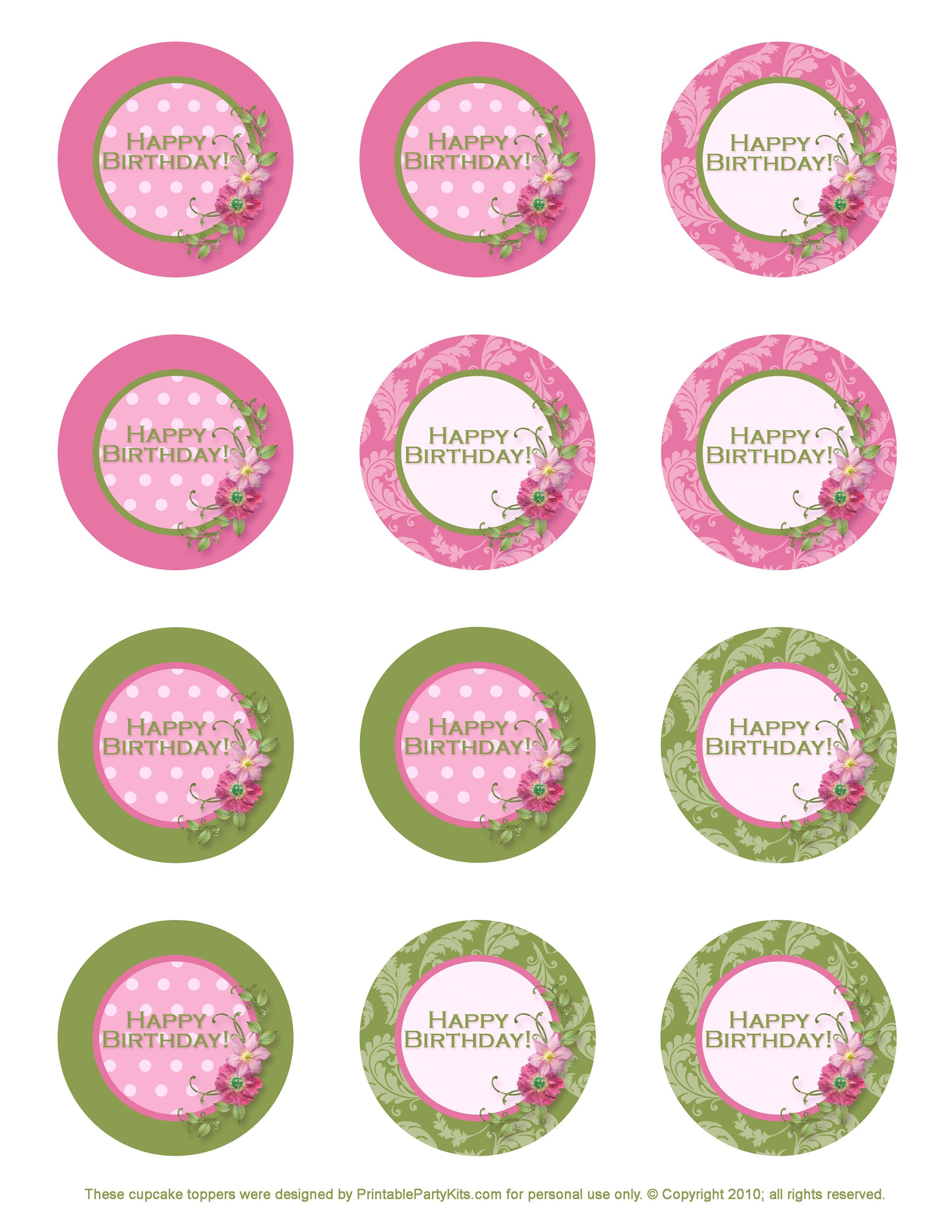 Free Printable Birthday Cupcake Toppers   Crafts   Cupcake Toppers - Free Printable Cupcake Toppers