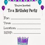 Free Printable Birthday Invitations For Kids #freeprintables   Free Printable Birthday Invitation Cards