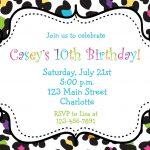 Free Printable Birthday Party Invitations For Girls | Holiday Stuff   Free Printable Cheetah Birthday Invitations