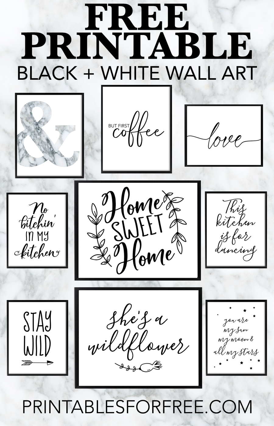 Free Printable Black And White Wall Art - Download And Print Your Ow - Free Printable Wall Art Black And White